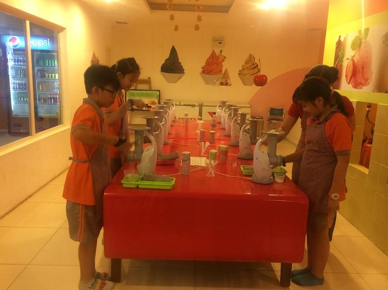 7. At Ice-Cream Factory